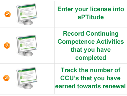 Track your continuing competence activities with aPTitude!